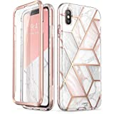 i-Blason Cosmo Full-Body Bumper Case for iPhone Xs CELLULAR PHONE CASE, Marble