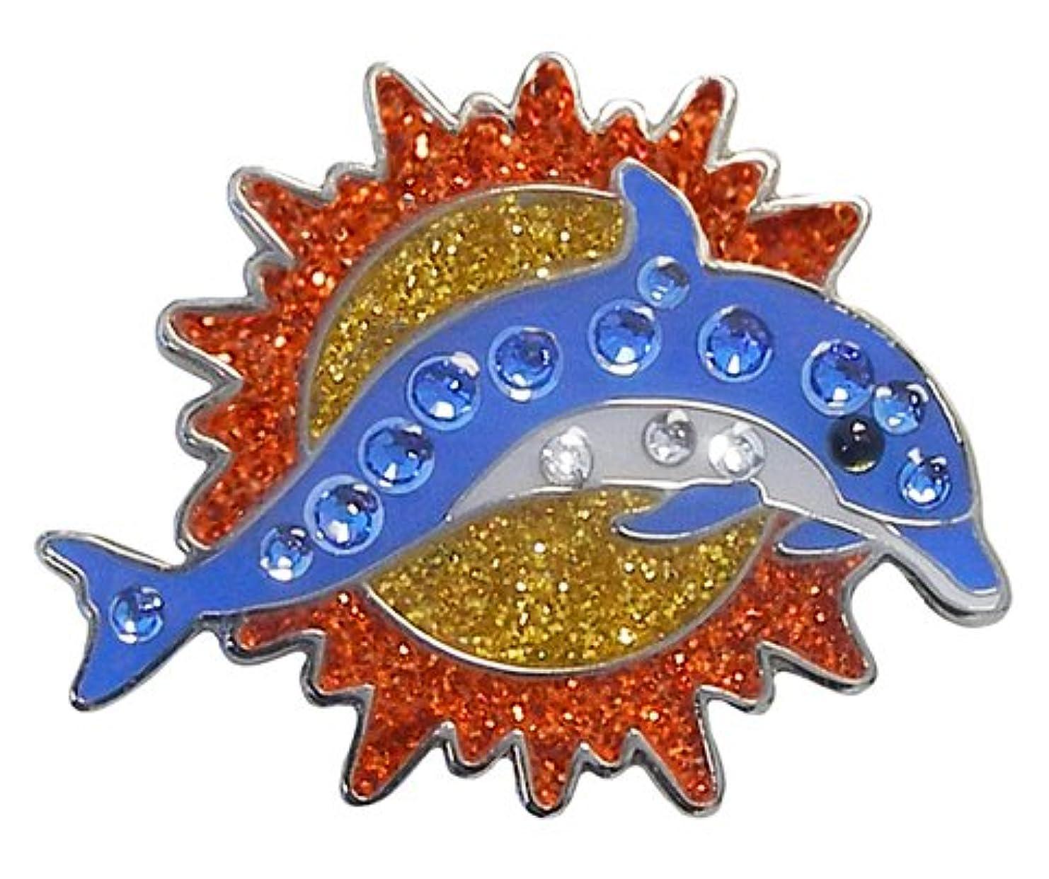 プール長いです実装するNavika Dolphinスワロフスキークリスタルボールマーカーwith磁気帽子クリップ