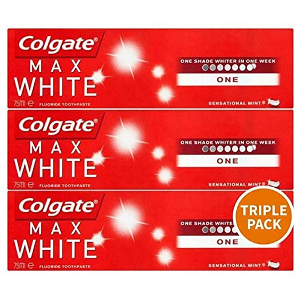 受益者希少性マウンド[Colgate ] トリプルパック歯磨き粉3×75ミリリットルをホワイトニングコルゲートマックスホワイト1 - Colgate Max White One Whitening Triple Pack Toothpaste...