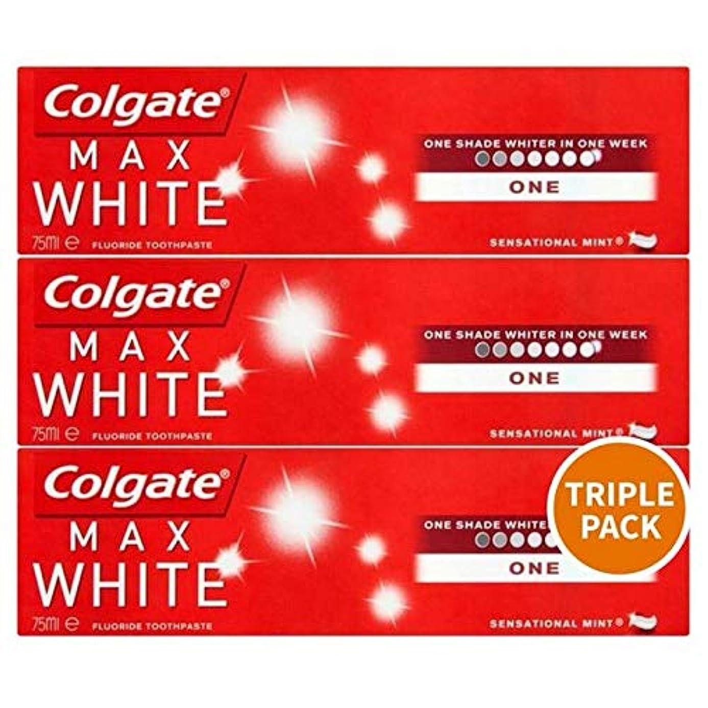 うるさい瞑想する義務的[Colgate ] トリプルパック歯磨き粉3×75ミリリットルをホワイトニングコルゲートマックスホワイト1 - Colgate Max White One Whitening Triple Pack Toothpaste...