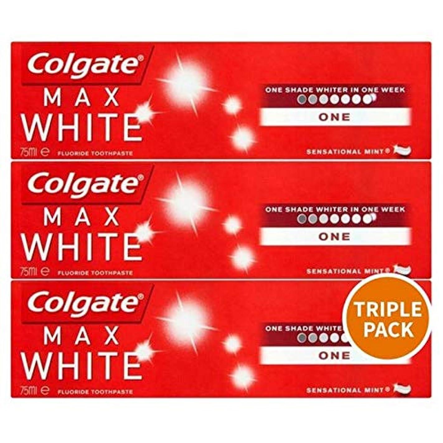 バレーボール読みやすい矢印[Colgate ] トリプルパック歯磨き粉3×75ミリリットルをホワイトニングコルゲートマックスホワイト1 - Colgate Max White One Whitening Triple Pack Toothpaste...