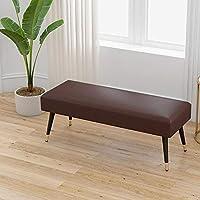 チェア 家具 フットスツール オットマン、 洗える生地 金属脚付き リビングルーム ソファー ベンチ 寝室 ベッドエンドスツール フットレスト ZX ホーム キッチン (Color : Brown, Size : 60x40x43cm)