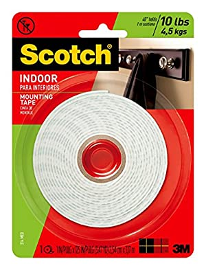 3M Scotch Heavy Duty Mounting Tape, 1-Inch by 125-Inch (314) holds up to 5 lbs. by 3M [並行輸入品]