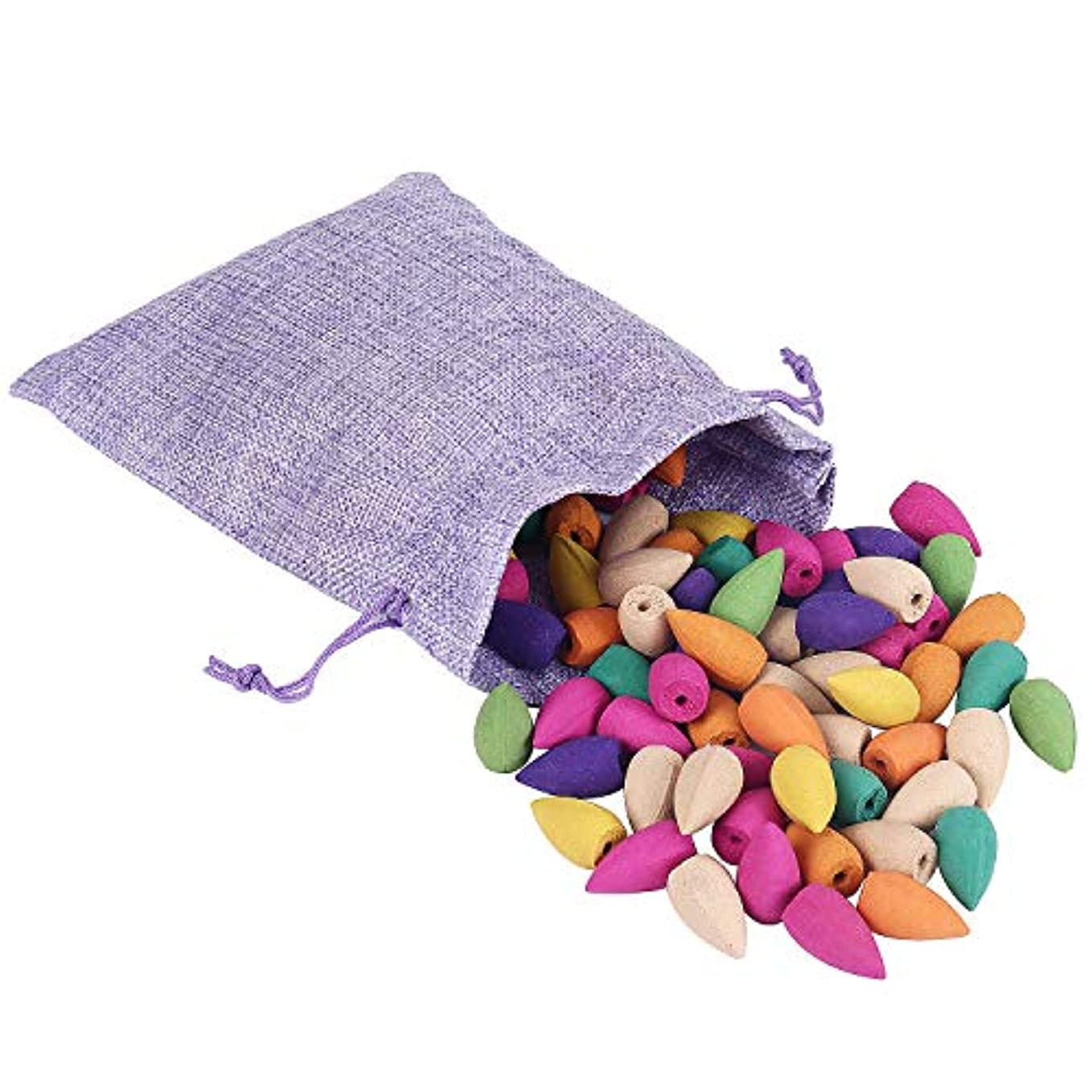 Backflow Incense Cones 100 Pcs 10 Mixed Natural Scents- Apple Rose Lily Tulips Rosemary Lavender and More Fragrant...