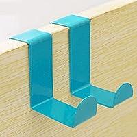 elegantstunning 2pcsクリエイティブColorized z-shapedステンレススチールハンガーフック ブルー PH1070IIM09P