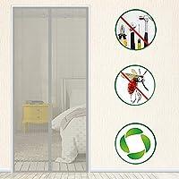 ストライプ 磁気スクリーンドア,グラスファイバー防風フルフレームベルクロ 磁気スクリーン フランス語ドア用 網戸 玄関ドア用 -f 120x200cm(47x79inch)