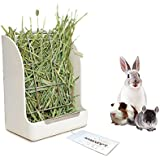 Guinea Pigs Hay Feeder Rack, Rabbit Mess-Free Alfalfa Dispenser,Hay Manger Rack for Small Animal, rabbit, guinea Pig, galesaur, ferret