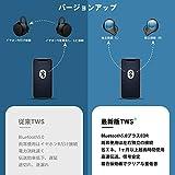 【10H連続再生 最新技術】Bluetooth イヤホン ボタン式 ワイヤレス イヤホン CVC8.0ノイズキャンセリング マイク付き IPX7防水 左右分離型 自動ペアリング Siri対応 AAC対応 ボリューム調節可能 片耳&両耳とも対応 3500mAh充電ケース ミニ 持ち運び便利 3Dステレオサウンド iPhone/ipad/Android適用 画像