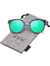 SojoS ソホス クラシック 丸い UVカット ユーセックス 偏光 サングラス SJ1057