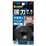 3M スコッチ 強力両面テープ 外壁面用 10mm×1.5m KB-10