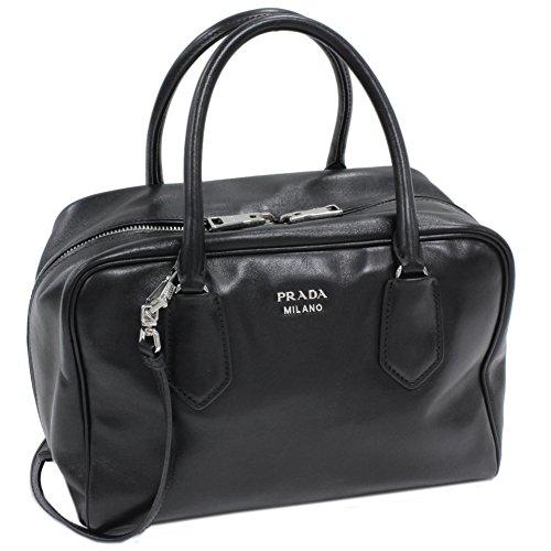 (プラダ) PRADA 2WAYハンドバッグ インサイド ソフトカーフ 黒