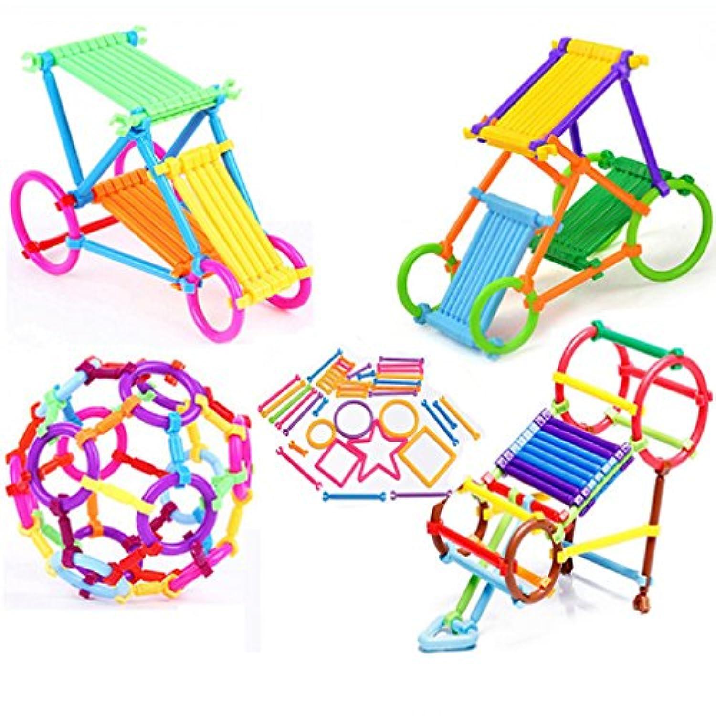 HS 256pcs Childrensインテリジェンススティックパズルおもちゃ教育Building BlocksおもちゃハンドメイドDIYベビーEarly Learningギフト