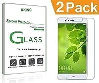 RKINC スクリーンプロテクタHuawei Nova Lite 3用、[2パック] 強化ガラスクリアスクリーンプロテクター[9H硬度] [2.5Dラウンドエッジ] [スクラッチレジスト] にとってHuawei Nova Lite 3