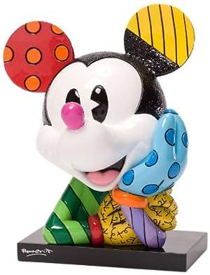 Enesco Disney by Britto Mickey Bust Figurine, 6.25-Inch /ロメロブリット/ディズニー/フィギュア/ミッキーマウス/並行輸入品