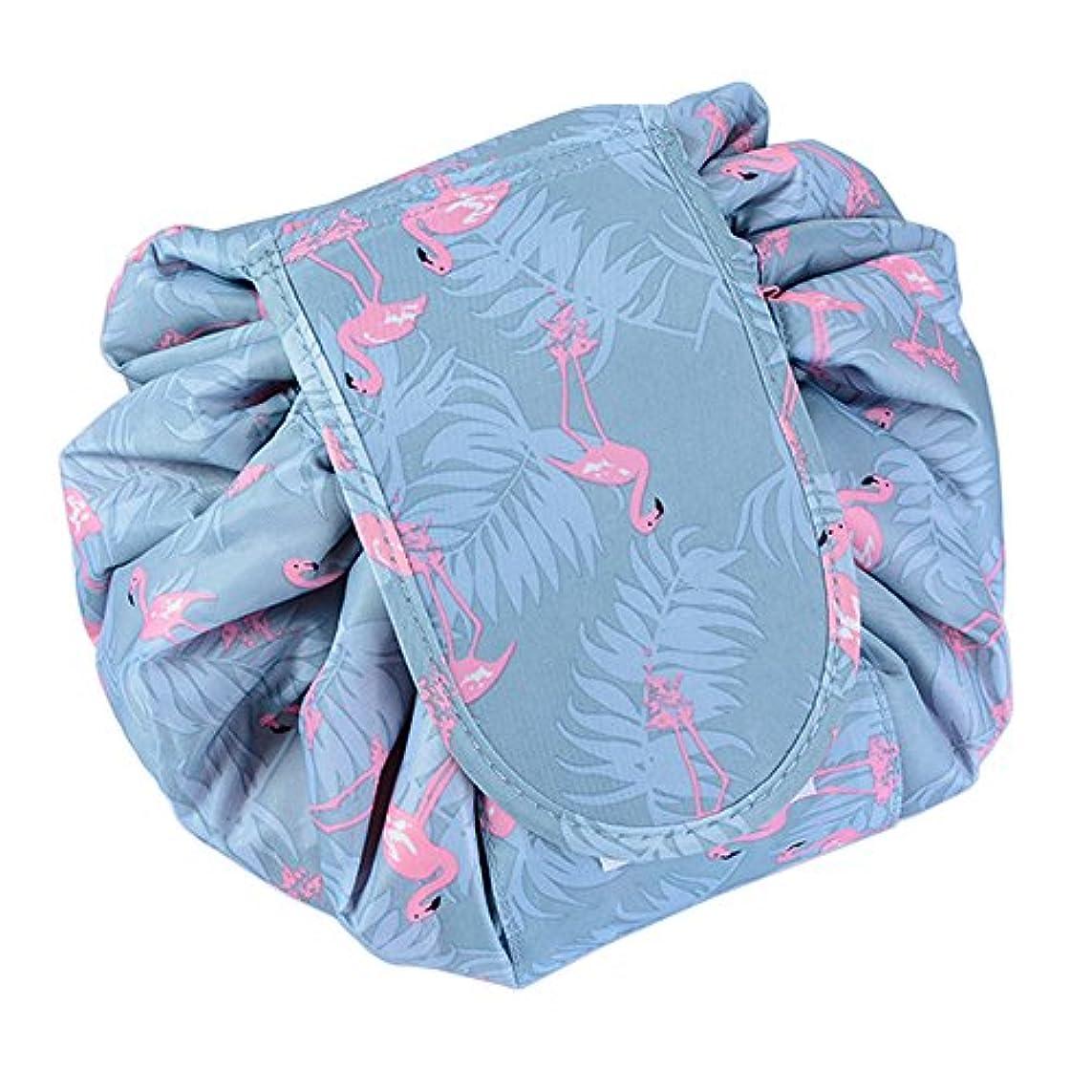戻す哲学者懐SimonJp メイクポーチ 化粧ポーチ 化粧品収納 収納ポーチ 多機能 大容量 巾着袋 防水 携帯 軽量 旅行 便利 フラミンゴ