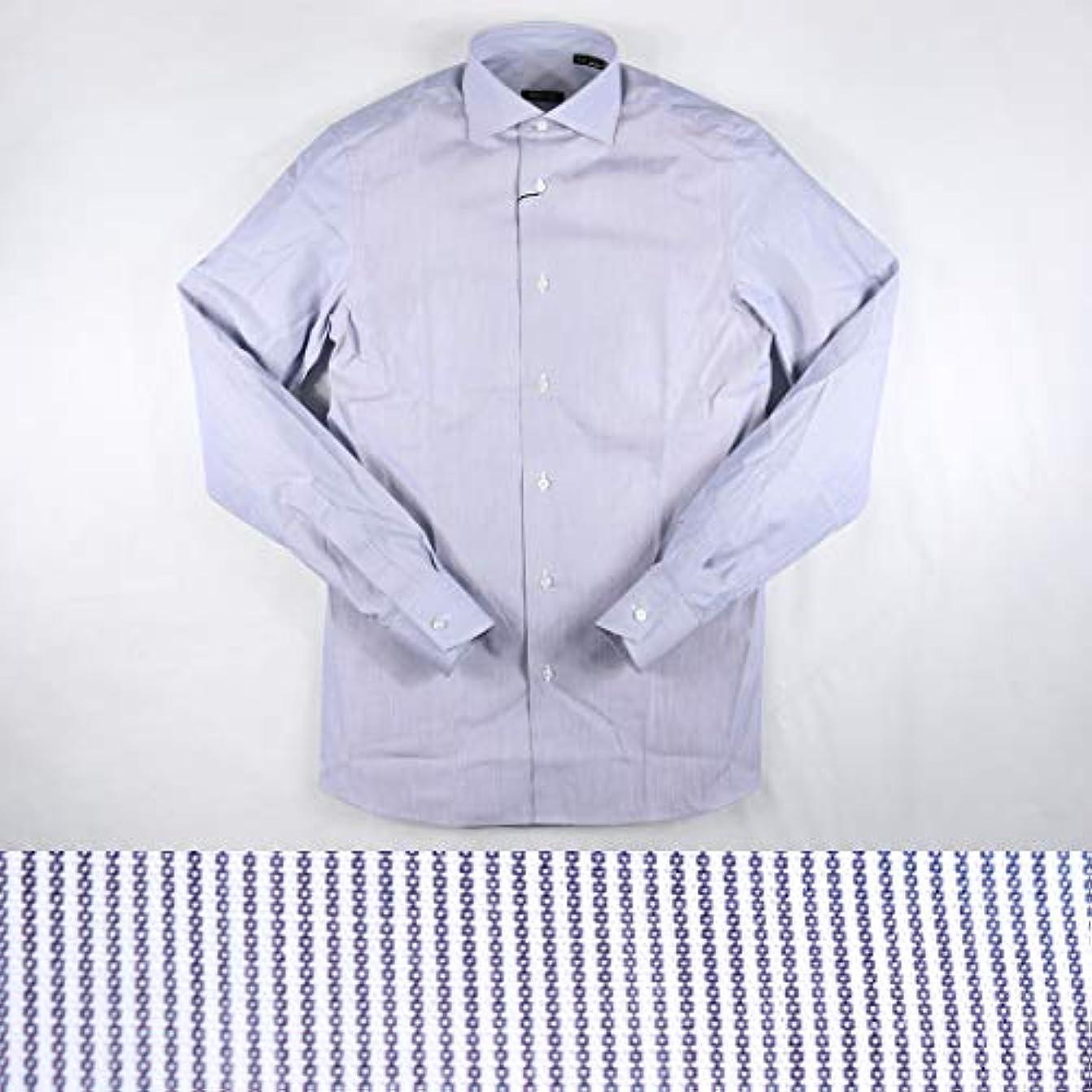 護衛ボーナスまばたきGUIDUCCI ストライプ 長袖シャツ GU0007 gray 41 12549【A12555】 グイドゥッチ [並行輸入品]