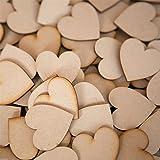 【ノーブランド 品】結婚式 装飾 4cm 50pcs 木製 木材チップ 結婚式 パーティー 撮影用 DIY カード作り ハート