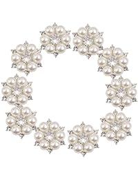 【Phenovo】ジュエリー DIY アクリル ビーズ チベット 工芸品 ネックレス フラワー ボタン 装飾