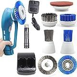 LightsEtc 電動掃除用ブラシ 充電式掃除ブラシ バスポリッシャー 防水仕様 ハンディータイプ キッチン掃除 お風呂 浴室 浴槽 BBQ掃除