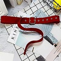 QGT Belt 2 PCS Square Buckle Adjustable Elastic Velvet Belt, Size: 1050 x 32mm(Red) (Color : Red)