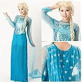 アナと雪の女王 エルサ 風 コスプレ ドレス コスチューム Sサイズ