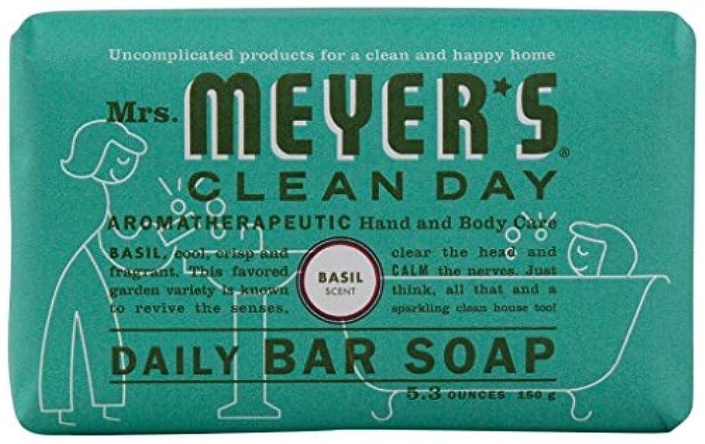 超越する盗賊ファイナンスMrs. Meyers Clean Day, Daily Bar Soap, Basil Scent, 5.3 oz (150 g)