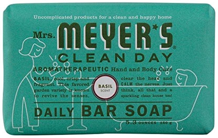 ペフオフちらつきMrs. Meyers Clean Day, Daily Bar Soap, Basil Scent, 5.3 oz (150 g)