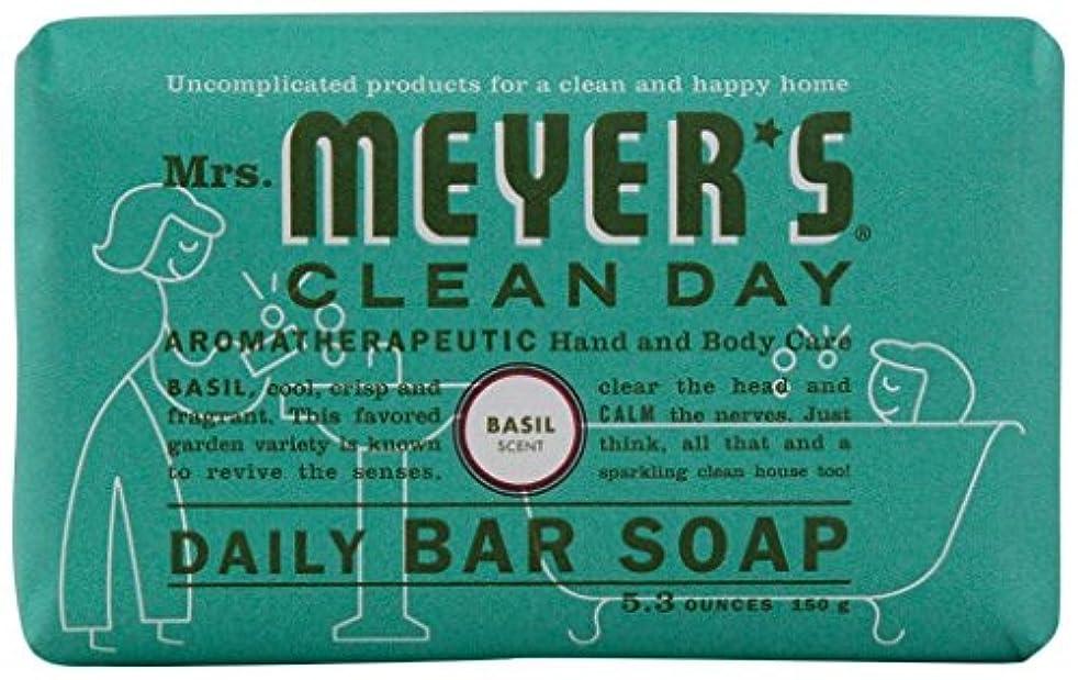 定期的なメトロポリタンデュアルMrs. Meyers Clean Day, Daily Bar Soap, Basil Scent, 5.3 oz (150 g)