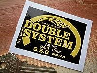 Double System Suspension Black & Yellow Sticker ダブルシステム ステッカー シール デカール ブラック&イエロー 70mm × 48mm [並行輸入品]