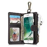 iPhone6/6S/7本革ケース アイフォン ケース iphoneケース  牛革手帳型 財布型 分離可能手帳型 カバー カード入れ 小銭入れ マグネット留め具付き 磁石タイプ 耐摩擦  耐汚れ 全面保護 プレゼントに最適