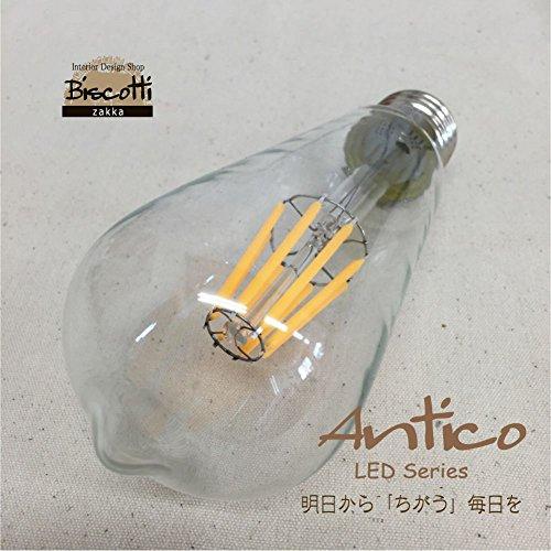 RoomClip商品情報 - Antico 650㏐で60W相当のレトロなオレンジの光 エジソン型LED電球 2700K E26 DY15-26S8 白熱電球のようなデザイン