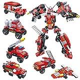 シティ消防車 6台セット合体 変形ロボット 消防の車 レゴ対応 互換