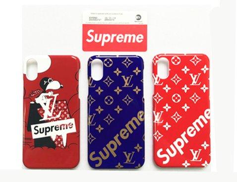 Supreme シュプリーム iphoneケース [超薄型 超軽量] 携帯カバー 新品人気おしゃれ スマホケース ICカードステッカー 電車用ステッカー付き [並行輸入品] (i6P/i6SP, 赤)