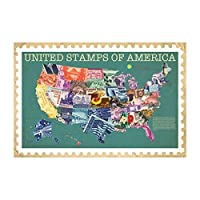 Smithsonian - United Stamps Of America Poster 36 x 24in [並行輸入品]
