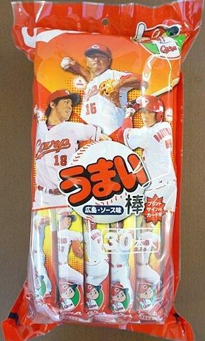 カープ うまい棒 広島ソース味 30本入り 「プリントサイン入りカード1枚付」