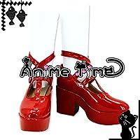 ●●サイズ選択可●●女性22CM MJR1421 コスプレ靴 ブーツ ハートの国のアリス ~Wonderful Wonder World~ アリス=リデル