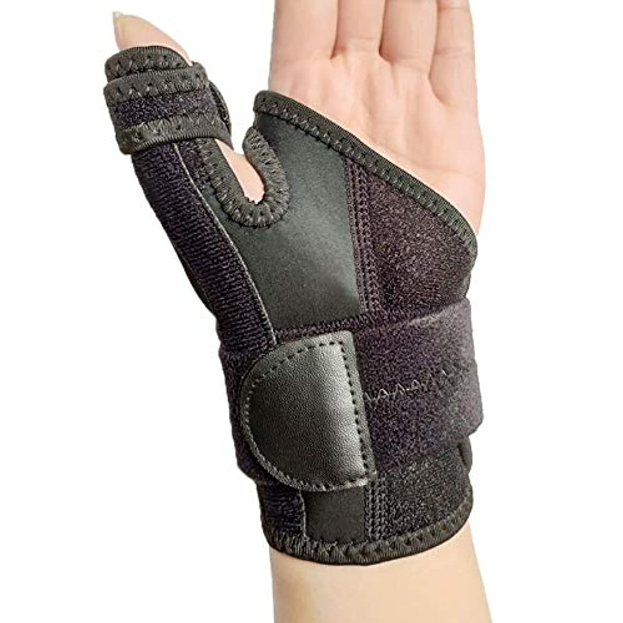 除外するメッシュ習字調節可能な手の捻挫メンズ?レディース?便利なスポーツ破壊無垢バンド手根管手首のサポートブレースベルト親指Bracer