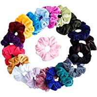 20Pcs Hair Scrunchies Velvet Elastic Hair Bands Scrunchy Hair Ties Ropes Scrunchie for Women or Girls Hair Accessories - 20 Assorted Colors Scrunchies