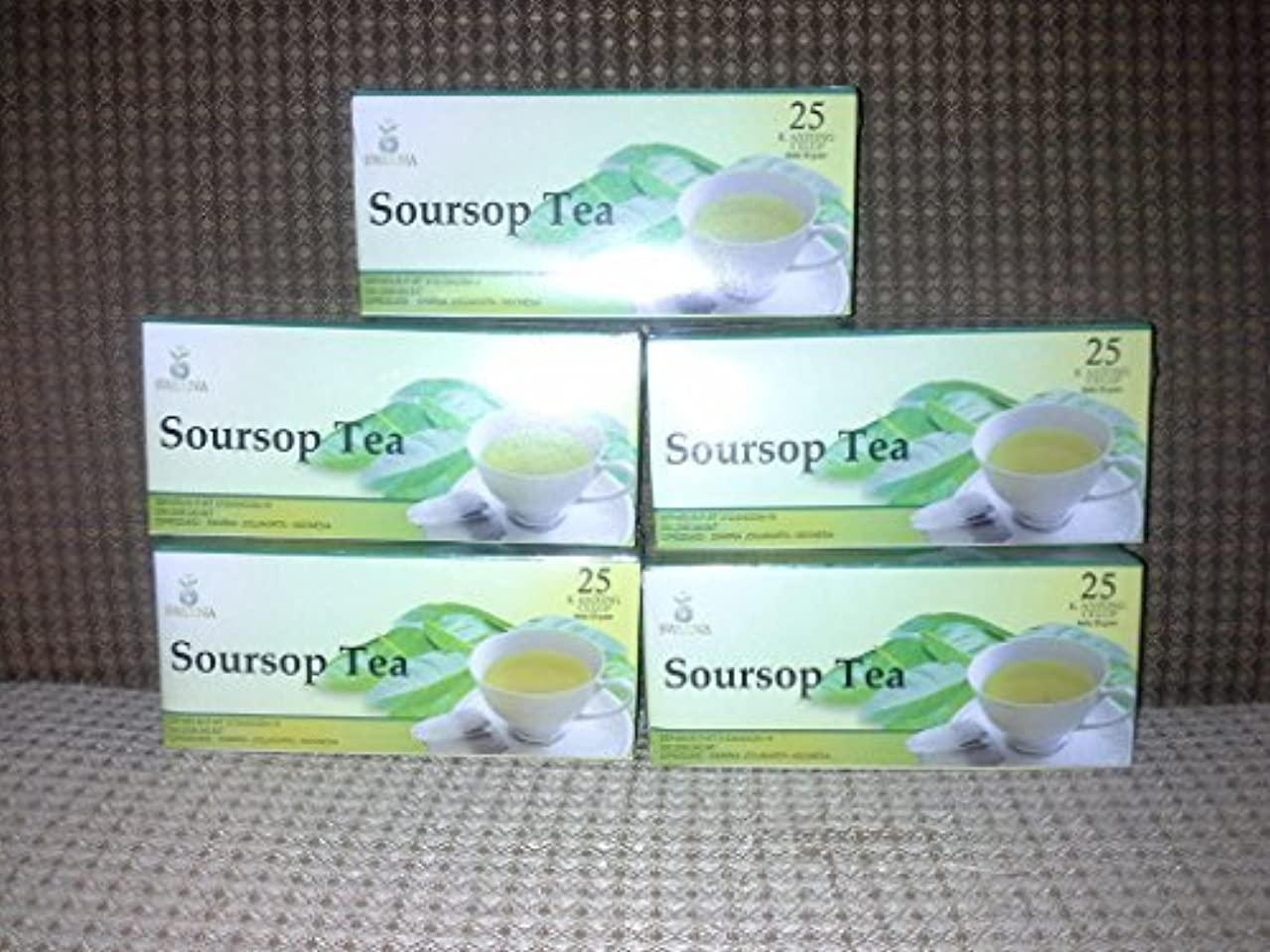 放棄アナニバー良さGraviola /Soursop Leaves Tea Extract Natural, 3 Box X 25 Teabags = 75 Teabags by Swarna Soursop Tea [並行輸入品]