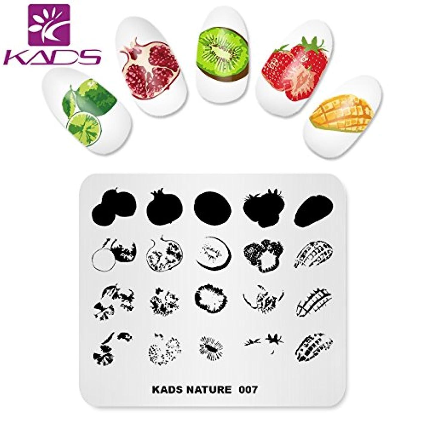 しっとり酸知覚KADS ネイルスタンプ ネイルスタンピングプレート ナチュラル系 ネイルステンシル ネイルアート道具 (NA007)