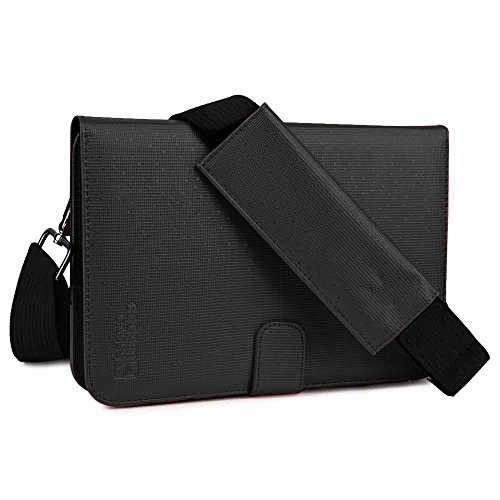 Cooper Cases(TM) Magic Carry II PRO ユニバーサル 7-8インチタブレット携帯用ポートフォリオケース(ブラック)(ハンド&ショルダーストラップ付き)