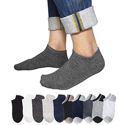 ショートソックス Emoily 靴下 メンズ くるぶしソックス 10足セット スニーカーソックス 抗菌防臭