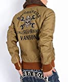 (バンソン) VANSON ジャケット B-15 フライトジャケット ライダース仕様 メットスカル&クロススパナ シリアルナンバー入り NVJK-506 (..