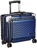 [シフレ] ミチコロンドン ハードジッパースーツケース MCL 保証付 25L 34 cm 2.48kg メタリックネイビー