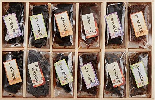 廣川昆布 万味豊秀塩昆布・佃煮12品詰合せ 201-06 E20-171-05