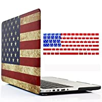 アメリカ国旗ハードシェルケース+キーボードカバーfor MacBook Pro 13インチwith Retina Display (モデル: a1502 / a1425) – USA Flag Macbook Retina 13 / US Flag & Keyboard Cover