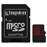 キングストン Kingston microSDHCカード 32GB クラス U3 UHS-I 対応 アダプタ付 SDCA3/32GB 永久保証