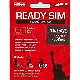 アメリカ プリペイド SIM Ready SIMカード Nanoサイズ!アクティベーションが簡単!アメリカ国内通話定額、データ通信定額! (通話とSMS、データ通信1GB 14日間)