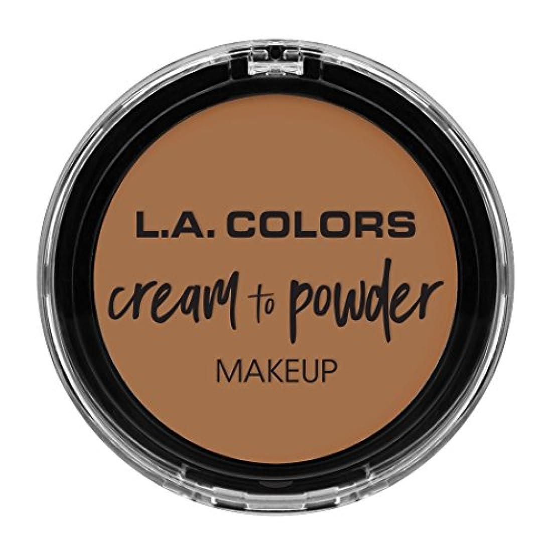 栄光の不正直シャーロットブロンテL.A. COLORS Cream To Powder Foundation - Soft Honey (並行輸入品)
