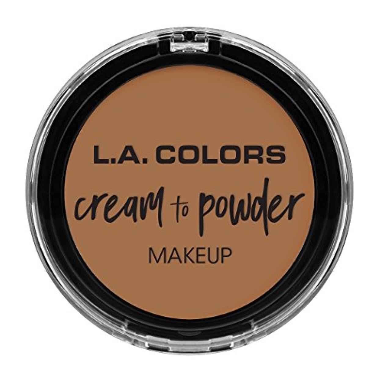 ソーシャル自信がある同時L.A. COLORS Cream To Powder Foundation - Soft Honey (並行輸入品)